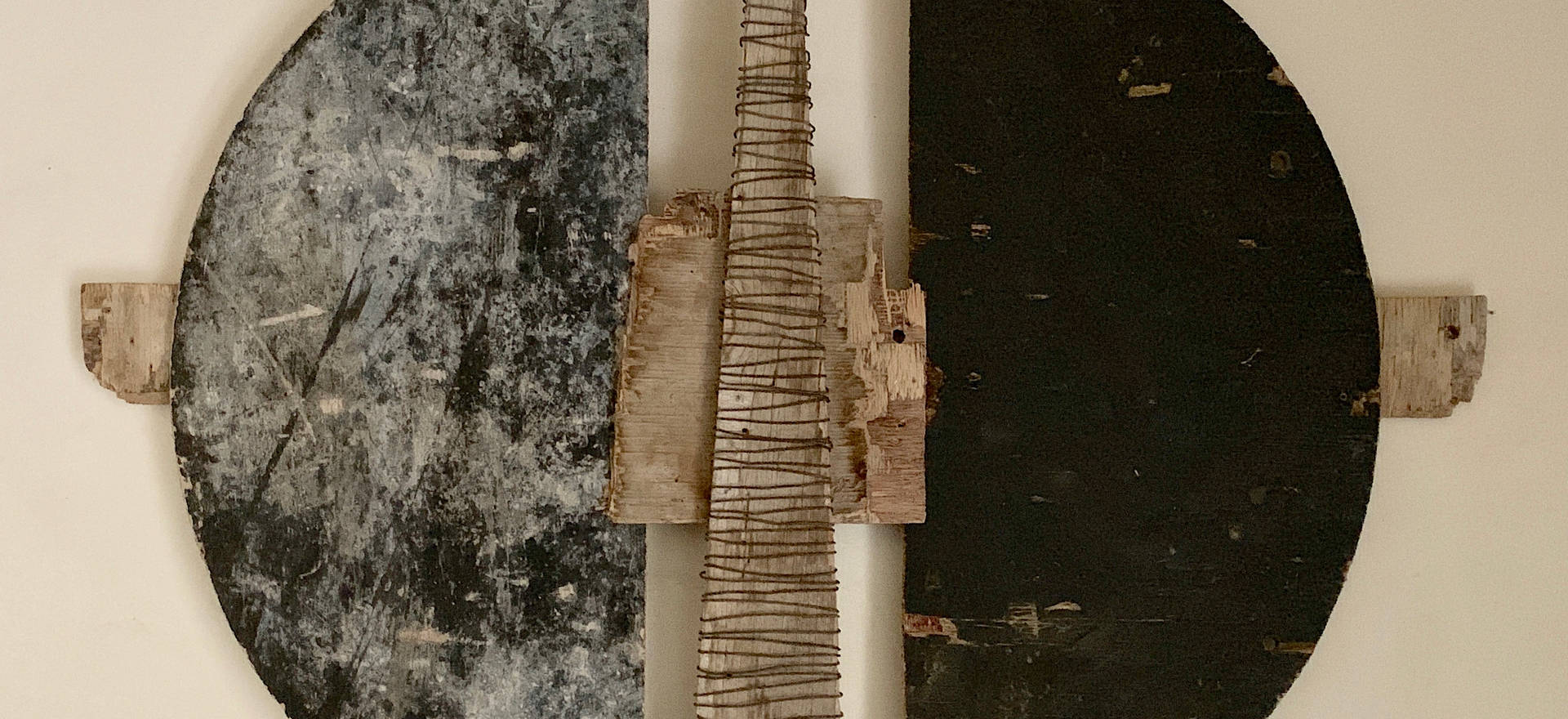 Formwork II, 2019. Formwork and annealed wire. 35.03 x 48.42 x 2.36 inches.  89 x 123 x 6 cm.