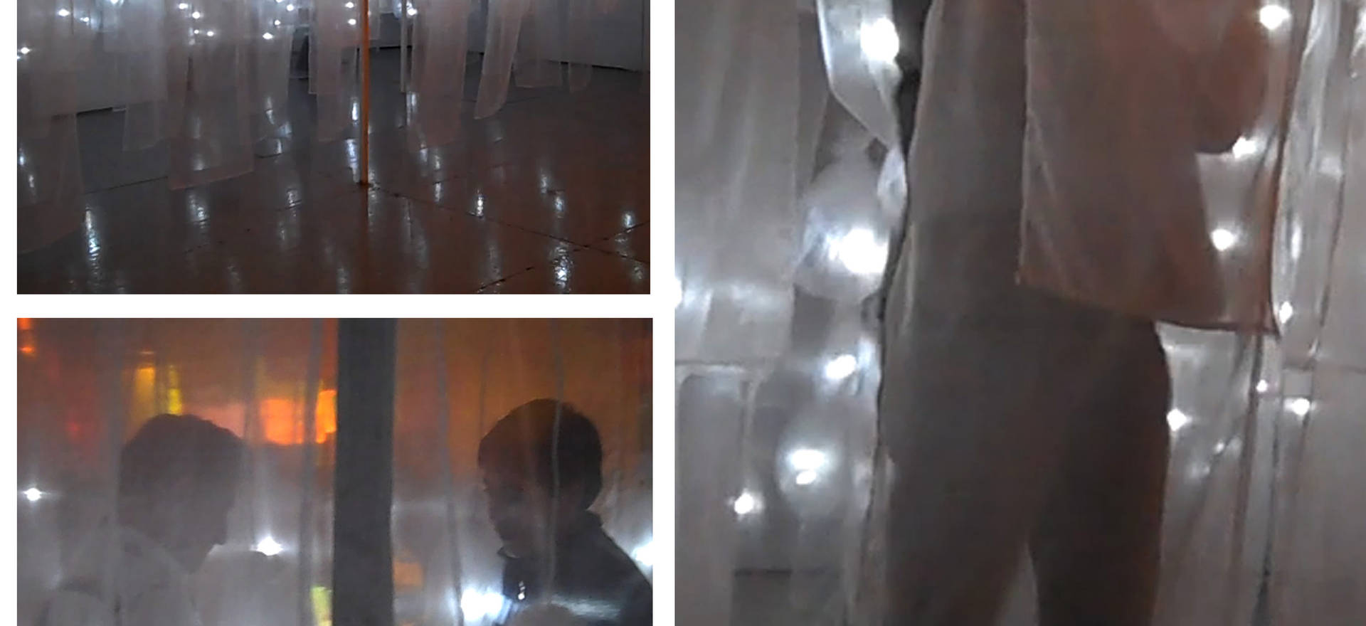 Return from the Mictlan, 2010 Penetrable installation. Textile, lighting system and audio. Presented at the National Center for the Arts, Mexico City, Mexico. 29.52 x 19.68 ft. 9 x 6 m.  Audio design: Eduardo Roel.