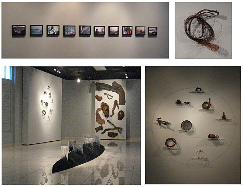 Black box, narrative of a sinister, 2010 Proyect that recuperated elements of a vandalic action that took place at REMA, Inc.  in honor of the guardsmen killed and the workers who lost their jobs due to this criminal activity. Museum of Art of Caguas. Puerto Rico.
