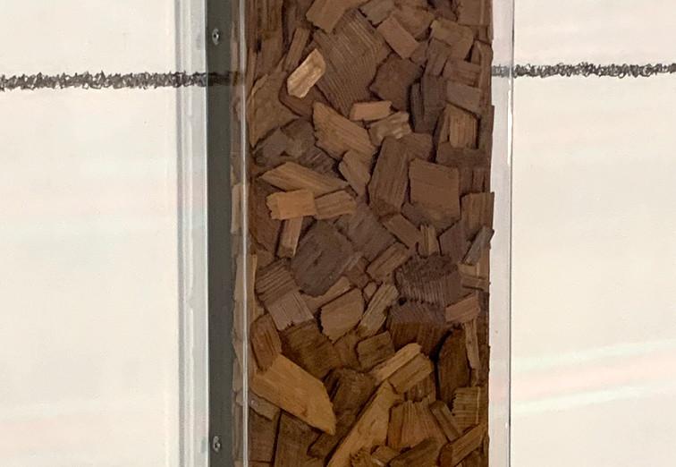 Caosmosis, 2020 (relief detail) Multimedia installation 8.85 x 16.40 x 26.24 feet 2.70 x 5 x 8 m At Modern Love vo. 4 art fair. Mexico City, Mexico.