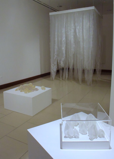 Sudden Downpour, 2013. (at the Museum of the University of Turabo. Gurabo, Puerto Rico) Penetrable installation. 3.20 x 2.00 x 200 m.  10.49 x 6.56 x 6.56 feet.