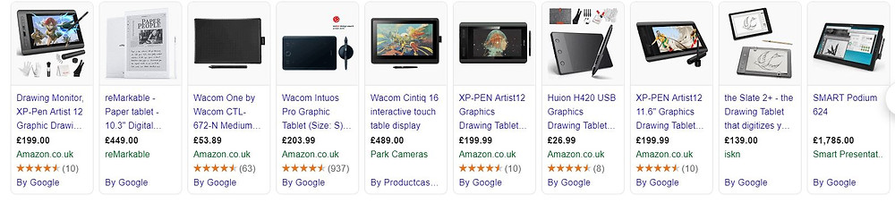 Tablet prices