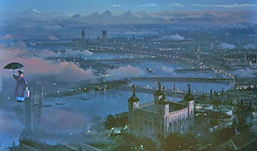 Mary poppins 1964 matte painting