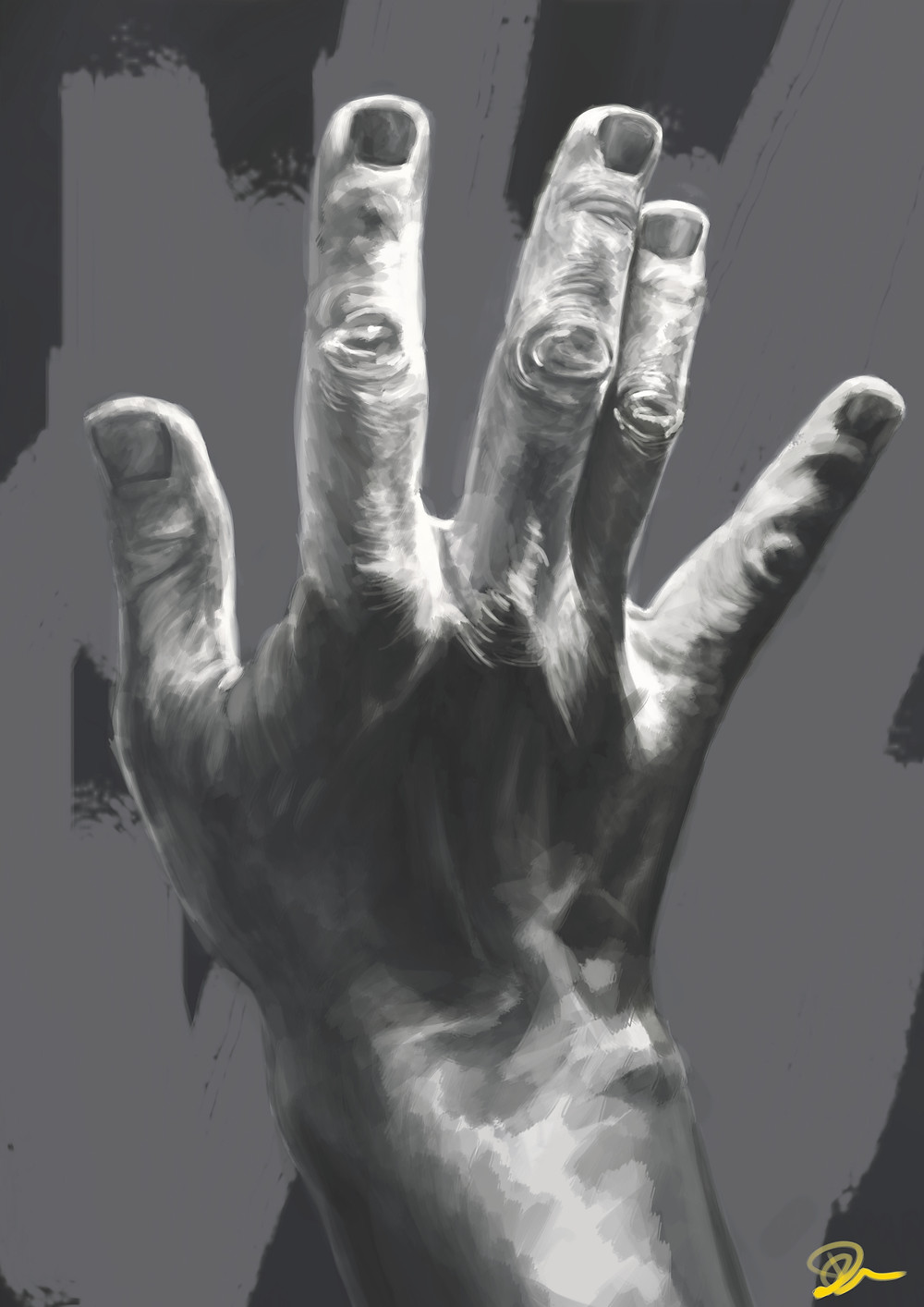 Digital hand study 2 1/2 hours