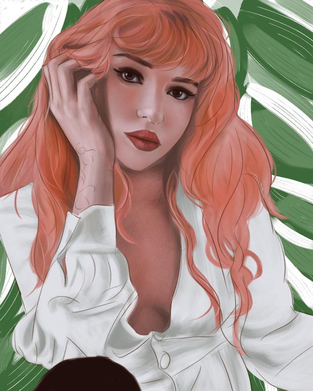 ophanap portrait digital painting