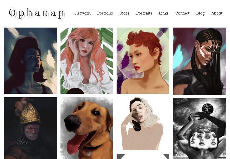 portfolio portrait commissions ophanap