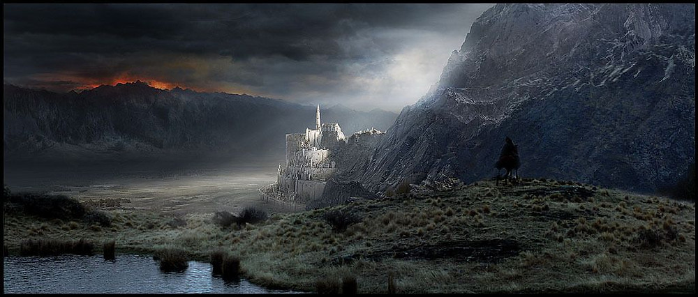 Minas Tirith, The Lord of the Rings. 2001. Matte Painting Via New Line Cinema