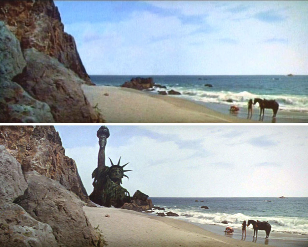 the planet of the apes 1968. matte painting