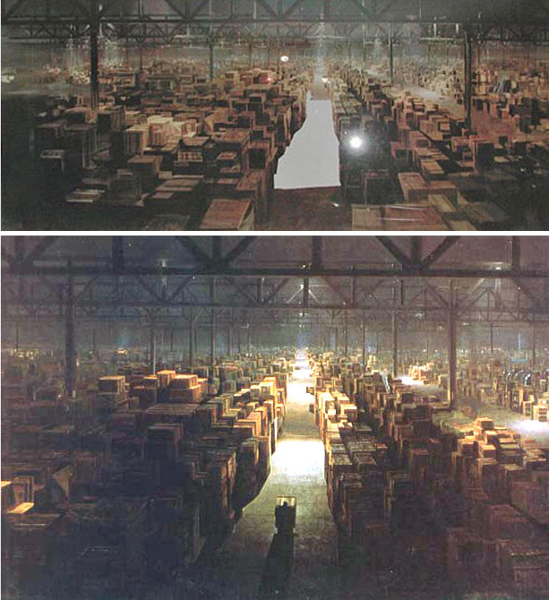 raiders of the lost ark 1981 matte painting