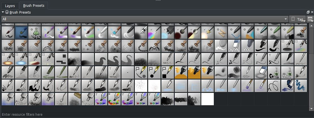 All of the brushes I use in krita