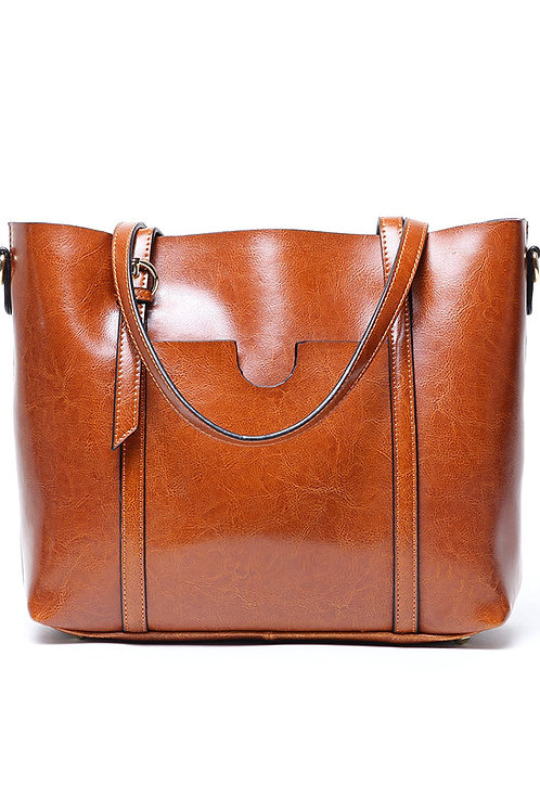 Leather Commute Tote