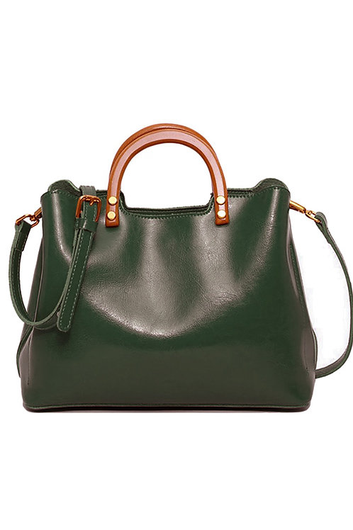 Leather Vintage Lady Handbag