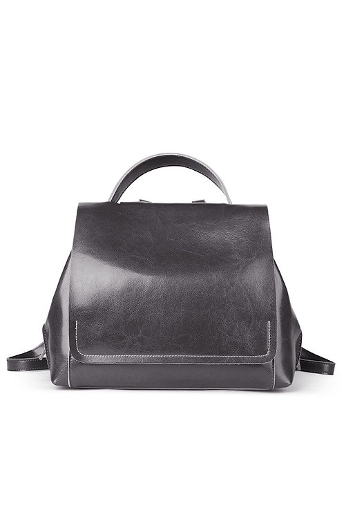 Leather Large Lady Messenger Backpack