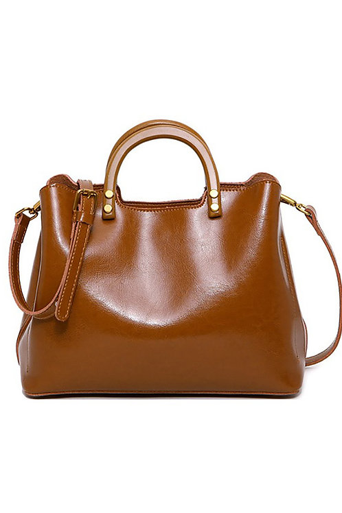 Leather Vintage Lady Handbag
