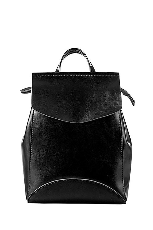 Leather Simple Backpack