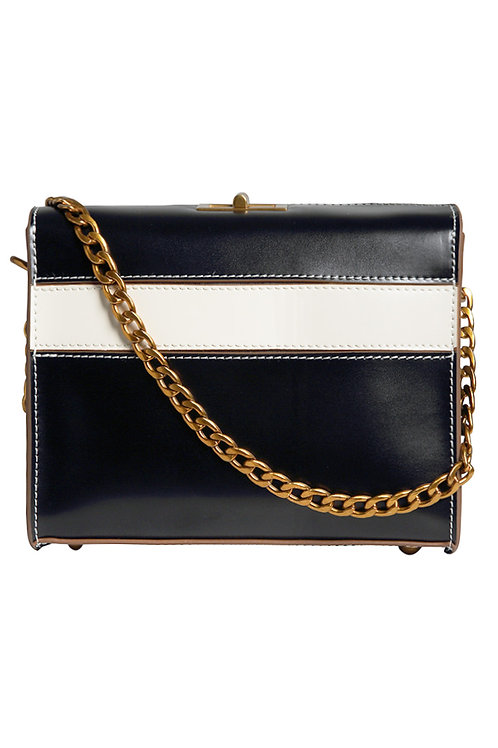 Leather Trendy Top-open Sling Bag