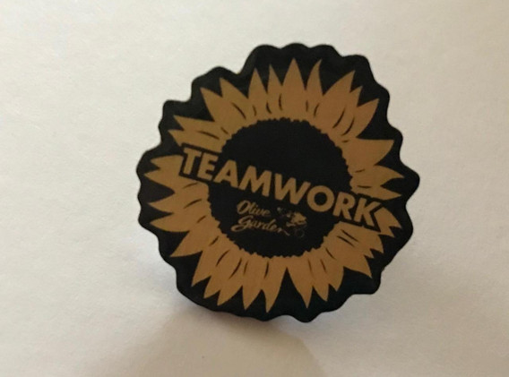 Team Work Pin from Olive Garden