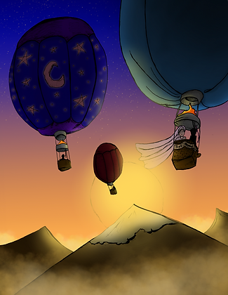 Hot Air Balloons Cover Printable