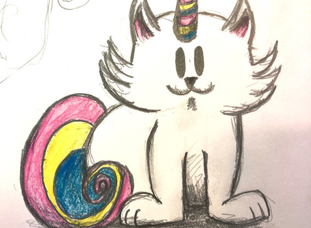 Working on Holiday Caticorn and Other Musings