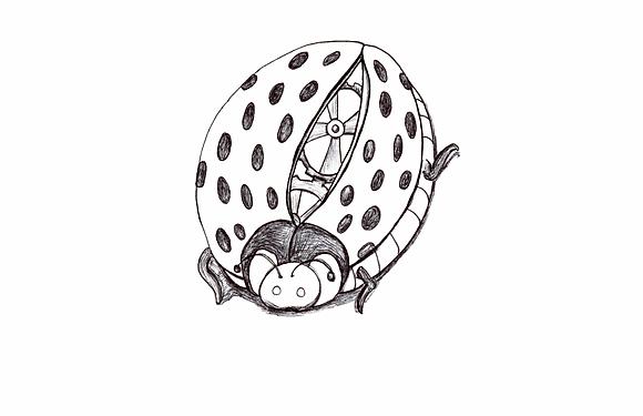 Mechanical Ladybug Coloring Page Printable