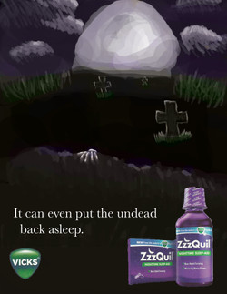 ZzzQuil Redone Ad