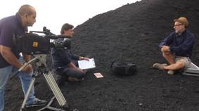Con Michele Sciancalepore per Retroscena TV2000, intervista a Roberto Zappalà - Etna, giugno 2015