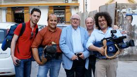 Troupe Rai con il padre del Commissario Montalbano Andrea Cammilleri - 2008