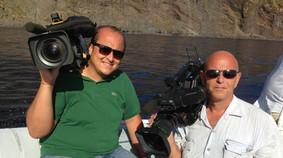 Con il collega Giovanni Misuraca, Linea Blu Rai 1 - settembre 2013