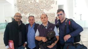 Con Sergio Canelles Museo del Bardo, un mese dopo l'attentato dell'ISIS - Tunisi, aprile 2015