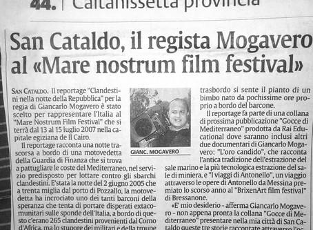 "San Cataldo, il regista Mogavero al ""Mare nostrum film festival"""