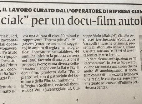 """Primo """"ciak"""" per un docu-film autobiografico"""