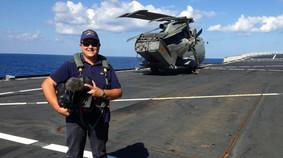 Sulla nave San Marco della Marina Militare - operazione Mare Nostrum, ottobre 2013