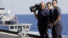 Nave San Marco con Vito D'Aniello del TG1- operazione Mare Nostrum, ottobre 2018