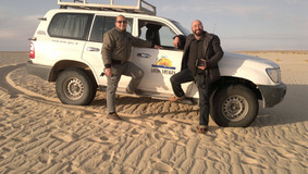 Con il fotoreporter Davide Cattoni - Touzer, Deserto del Sahara, ottobre 2010
