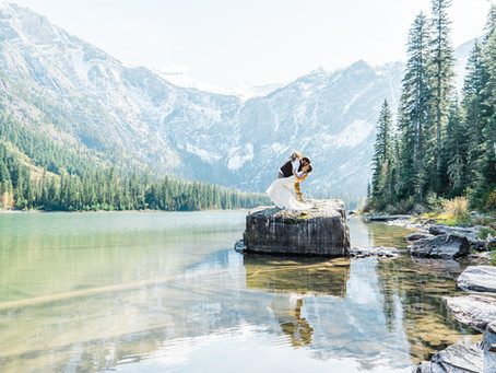 Justin and Addie: Avalanche Lake Elopement in Glacier National Park | Christina Adele Photo