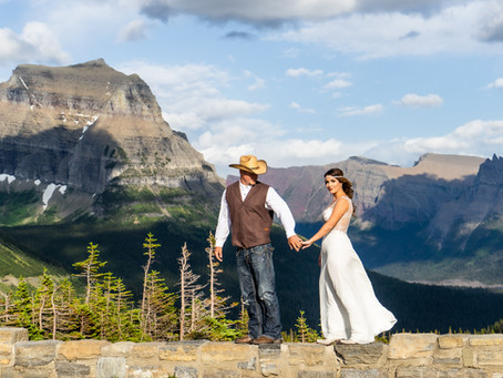 Origin Stories and a July Logan Pass Elopement Session | Christina Adele Photo