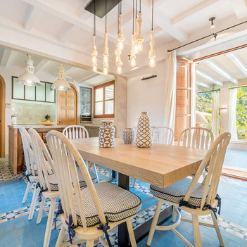 Indoor dining table and Kitchen