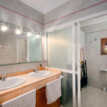 Upstairs bathroom with bathbub