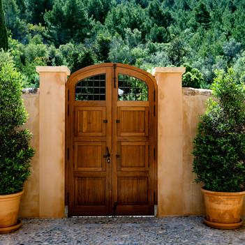 Entrance door form inside