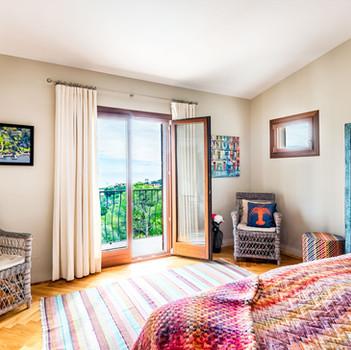 Bedroom 1 and balcony