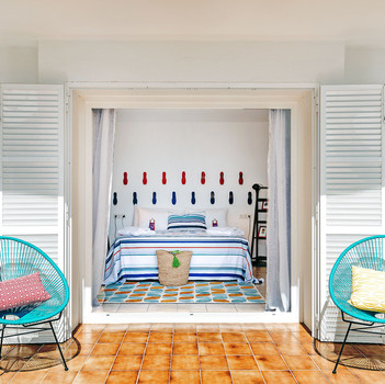 Acapulco Chairs outside Bedroom