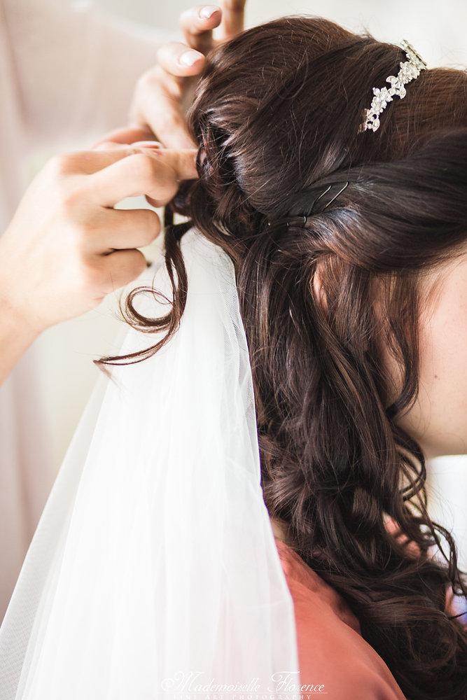 Brautfrisur-Stecken