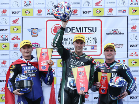 Great feeling with a new team and a new bike at the start of the ARRC in Sepang
