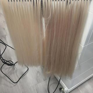so viele Haare haben wir verwendet