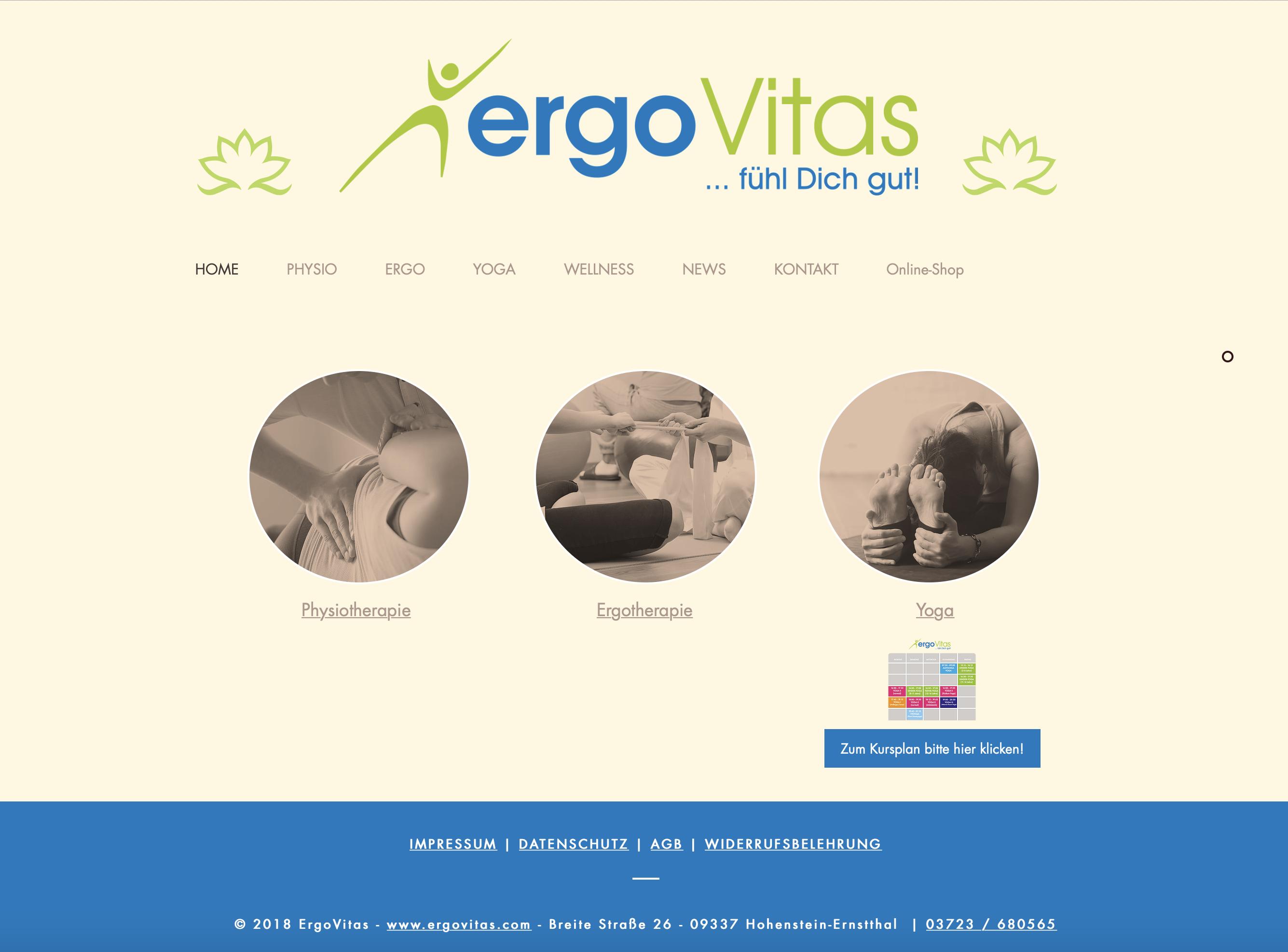 Web ErgoVitas Hohenstein-Ernstthal