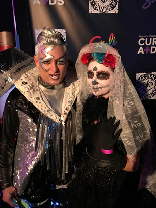 At the Mascureaids ball on Halloween!