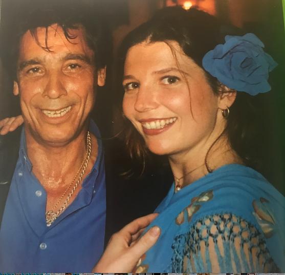 Flamenco singer Luis Agujeta with filmmaker Trina Bardusco in 1999