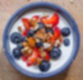 Yoghurt with fruit