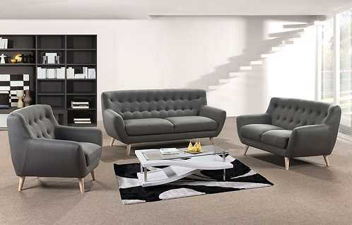 Rihanna 3S+2S+1S Fabric Sofa, 3 Seater Only