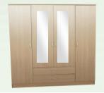 London Wardrobe 4 doors 2 drawers